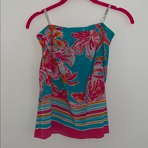 Lilly Pulitzer strapless top. Size XS